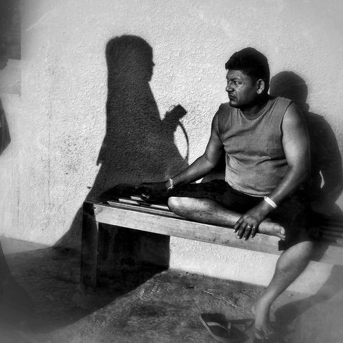 Where shadows meet IPhoneography Streetphotography People Bw Mobilephotography The Human Condition IPSShadows