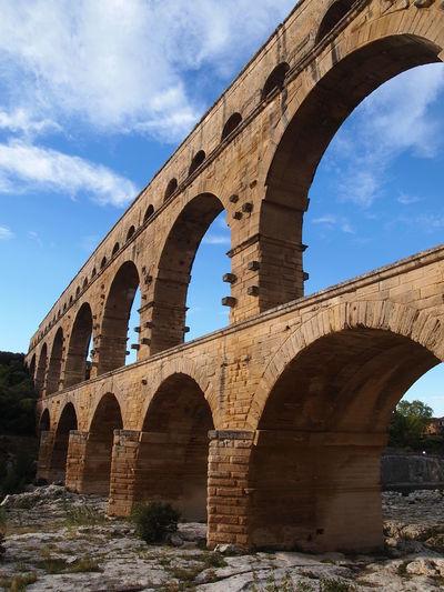 Pont du Gard aqueduct bridge in Provence