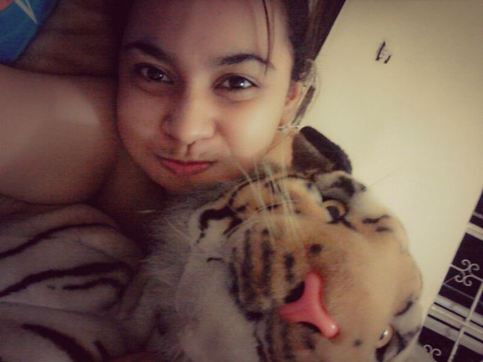 with my tiger. :)