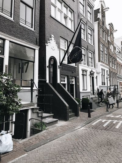 Building Exterior Architecture Built Structure Day Outdoors City Window Residential Building Real People Sky Amsterdam Maxbrownhotel
