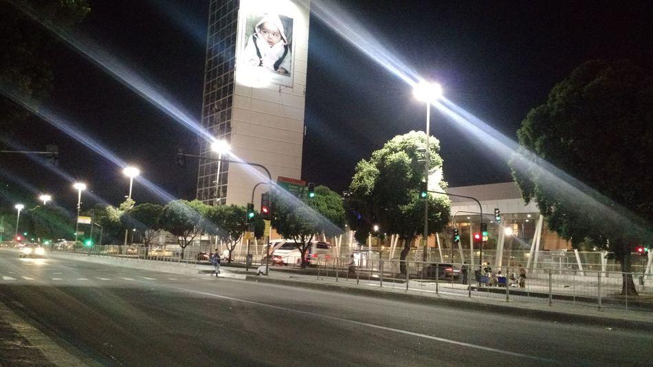 Presidente Vargas Avenue Rio De Janeiro Night Lights