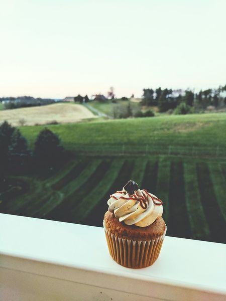Happiness Tranquility No People Fallweather Cupcake Amishcountry Peaceful Moments Sweettooth Saltedcaramel Balcony Shot Cravingsatisfied