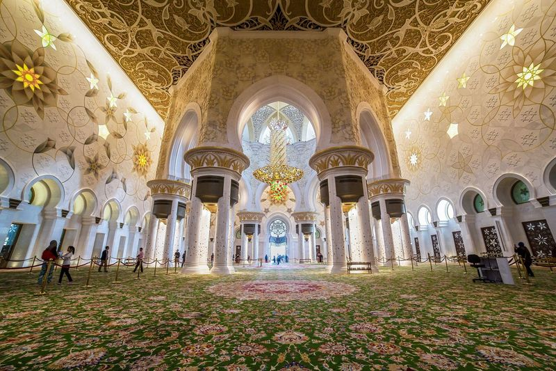Abu Dhabi Arch Architecture Carpet Indoors  Islamic Largest Carpet Mosque Ornament Religion Sheikh Zayed Grand Mosque First Eyeem Photo