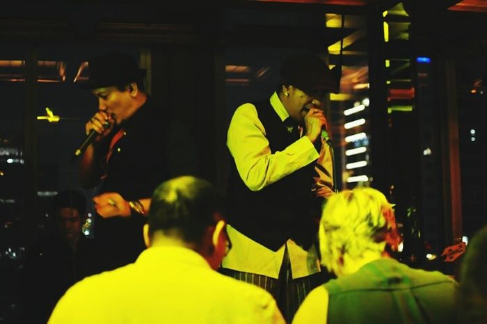 The Human Condition.Gig Bar Singing Me And My Friend Nightphotography Taking Photo Check This Out