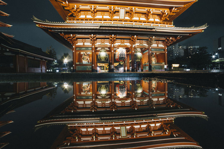Architecture Belief Building Building Exterior Built Structure Illuminated Lake Night No People Ornate Place Of Worship Reflection Religion Spirituality Travel Travel Destinations Water My Best Travel Photo A New Perspective On Life