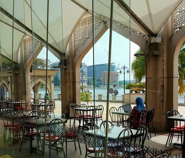 Doing work alone in a restaurant Architecture City One Person Putrajaya, Malaysia Table The Souq