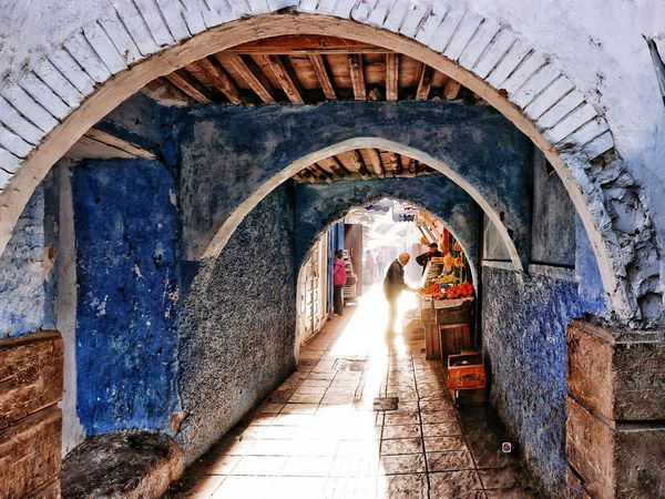 EyeEm Selects Arch Real People Architecture Day Sunlight Built Structure The Way Forward Lifestyles People Urbanromantic Food And Drink Medina MoroccoTrip Morning Light Morocco 🇲🇦 Moroccan Architecture Morocco Travel City Morocco Beauty Travel Destinations Travel Photography Old Town Adventure