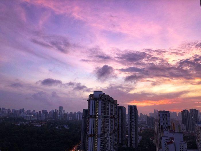 Purple sky. Sky