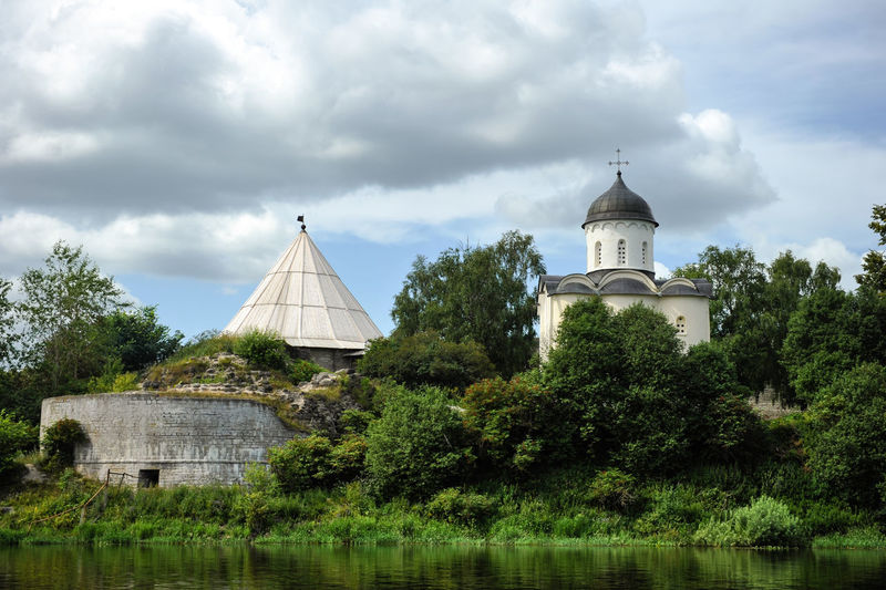 Russian orthodox church Church Orthodox Church Russia Architecture Building Built Structure Green Color Lake No People Orthodox Place Of Worship Religion River Bank  Spirituality