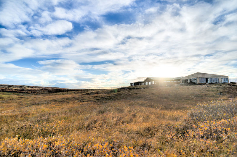 Agriculture Beauty In Nature Cloud Cloud - Sky Cloudy Day Golden Circle Grass Growth Horizon Over Land Iceland Iceland_collection Landscape Mode Of Transport Nature No People Non-urban Scene Outdoors Pingvellir Rural Scene Sky Thingvellir National Park Tranquil Scene Tranquility Weather