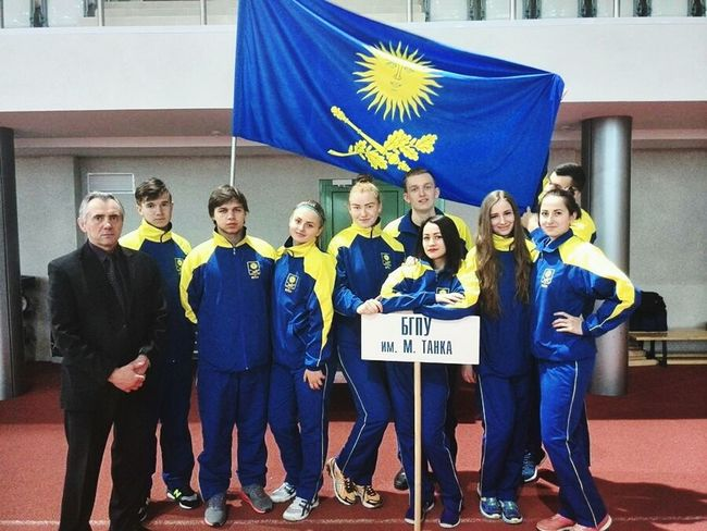 Hallo World Taking Photos Sport Athletes Competition BGUFK Yelow and Blue University Games The Strongest Belarus Minsk