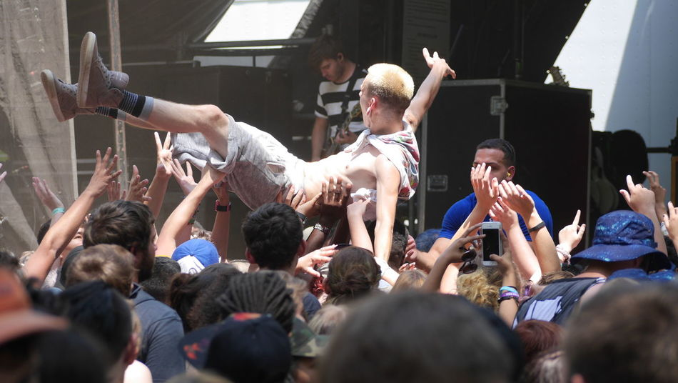 Alternative Arts Culture And Entertainment Concert Crowd Crowd Surfing Event Excitement Fun Illuminated Large Group Of People Mixed Age Range Moshpit Music Performance Punk Rock & Roll Rock N' Roll  Warped Tour  Warped Tour 2016 Young Youth Youth Culture Youth Of Today