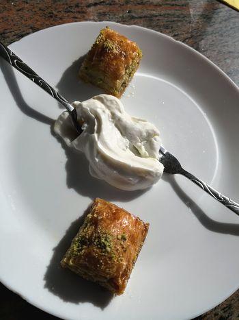 Halva dessert in Turkish restaurant Halva Sweets Sweet Dessert Turkish Turkish Dessert Halva
