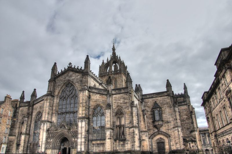 Architecture Building Exterior Built Structure Cathedral Historic History Low Angle View Place Of Worship Religion Scotland Spirituality St. Giles Cathedral