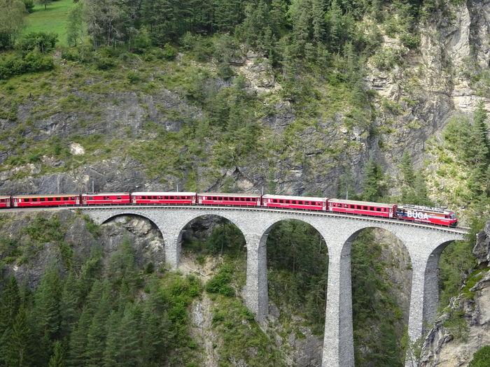 Architecture Bridge Filisur Hiking Landwasser Landwasser Viadukt  Point Of View Swiss Viaduct