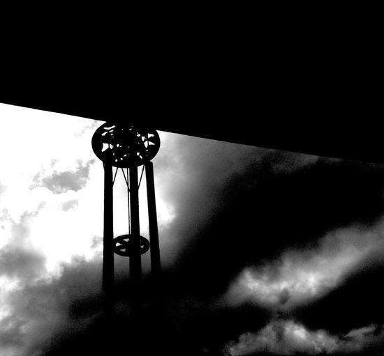 -/{ Ψ Ι Ν D }\- Darkness And Light Silhouette Clouds Blackandwhite Sky Windchimes