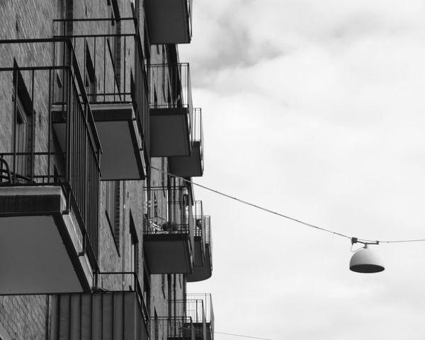 Streetphotography Blackandwhite Svartvitt Hus Lookingup Göteborg, Sweden