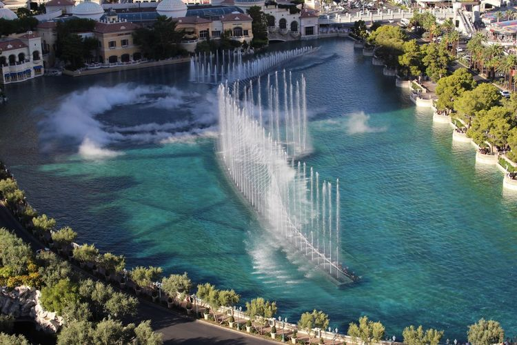 Vagas Baby- I just could not resist the views from the cosmopolitan hotels over looking one of the world most famous fountains in the world Architecture Flowing Water Beauty In Nature Travel Destinations Tourism Motion Water
