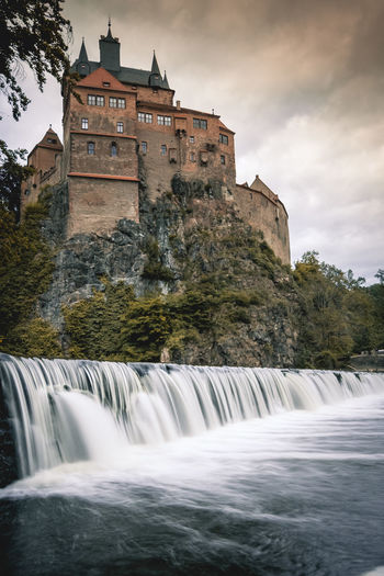 The castle and the waterfall