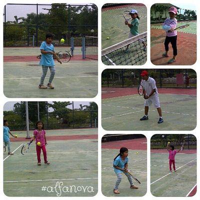 Day14 outdoor activity Parentkidsphotovideochallenge we're really love watching Tennis and play some tennis too.. I'm one of Rafans rafamily rafanadal vamooooooos.... vamos alfanova wnephotochallenges