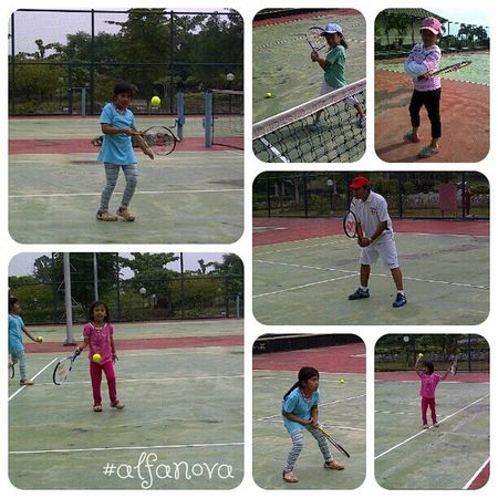 Day14 outdoor activity Parentkidsphotovideochallenge we're really love watching Tennis and play some tennis too.. I'm one of Rafans rafamily rafanadal vamooooooos.... vamos alfanova wnephotochallenges