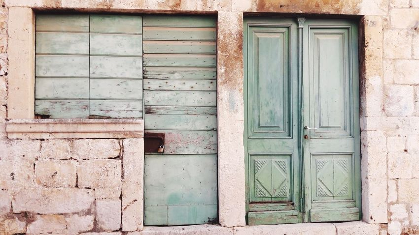 Komiza Croatia Komiza Island Vis Door Architecture Mediterranean  Adriatic Architecture Adriatic Nophotoshop Old Buildings Old Door Wooden Door The Week On EyeEm