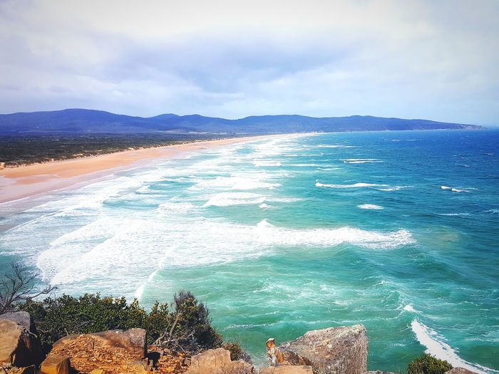 Greens Beach, Tasmania Sea Beach Outdoors Landscape Sand No People Day Beauty In Nature Scenics Nature Water Tree Sky Lost In The Landscape