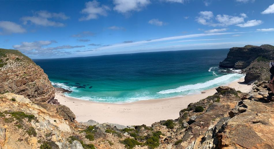 Strand am Kap der guten Hoffnung, Südafrika Landscape_photography Panoramic Panorama Ocean Beach Südafrika South Africa Landscape Landschaft Kap Der Guten Hoffnung Cape Town Kapstadt Sea Beauty In Nature Water Land Sky Horizon Over Water Sunlight Non-urban Scene Sand Day Outdoors Nature Scenics - Nature Cloud - Sky Tranquil Scene Idyllic Horizon Tranquility