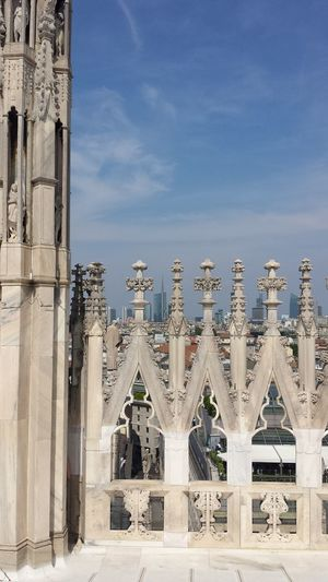 High Section Of Milan Cathedral Against Sky