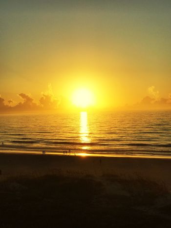 Sunset Sea Scenics Beach Sun Beauty In Nature Tranquil Scene Nature Tranquility Water Silhouette Orange Color Sky Horizon Over Water Idyllic No People Sunlight Sand Outdoors Reflection