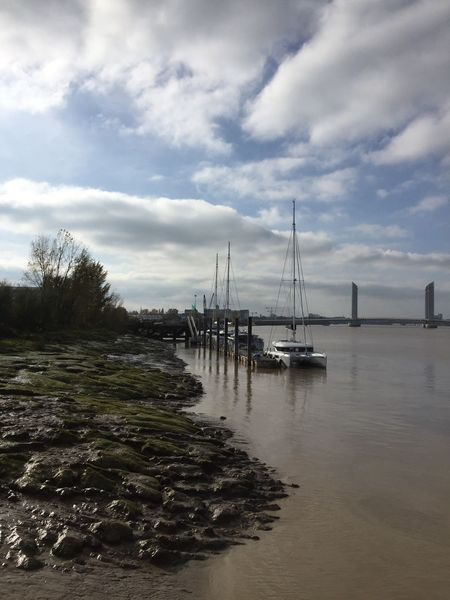 Autour Du Fleuve Sky Water Cloud - Sky No People Nautical Vessel Sea Nature Tranquility Outdoors Day Transportation Scenics Beauty In Nature Sailboat Mast