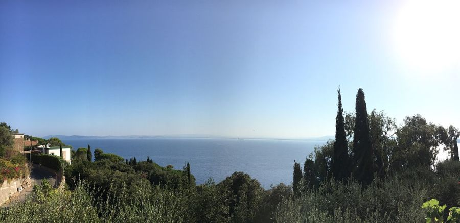 Good Morning From My Point Of View From My Terrace  Argentario Italy Sea Sea And Sky Tranquil Scene Tranquility