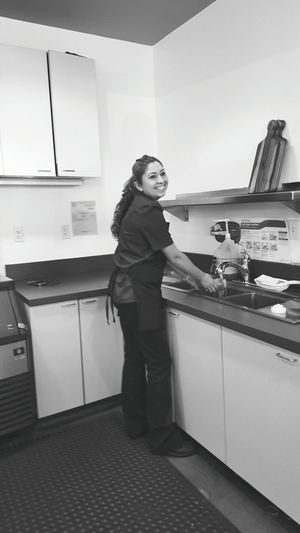 Coffee Barista People Photography People Of EyeEm Candid Photography Candid Work That We Do Black And White Portrait Stephanie
