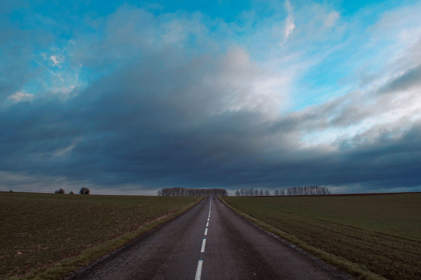 Beauty In Nature Cloud - Sky Day Dramatic Sky Landscape Nature No People Outdoors Road Scenics Sky Storm Cloud The Way Forward