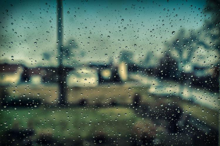 Raindrops Buildings City Drops Horizon Over Water Rain Raindrops Sky Taking Photos Water Window