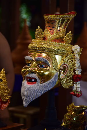Cutural Arts Thailand Handmade Mask - Disguise Mask_collection Tranditional Thai Mask