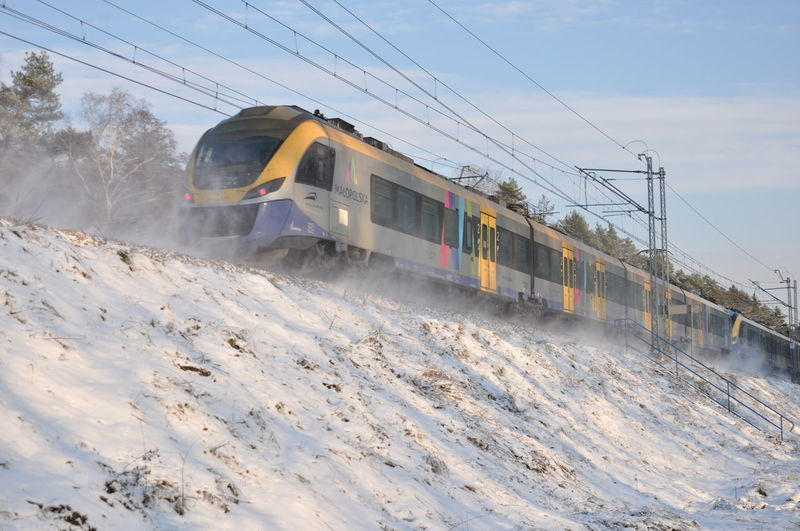 Snow Space Industry Winter Cold Temperature Train - Vehicle Snowing Motion Freight Transportation Industrial Equipment