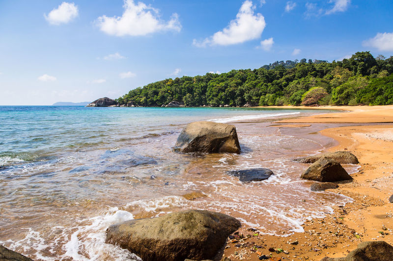 Pulau Tioman, or Tioman island, in Malaysia Nature South China Sea Tioman Island Asia Landscape Beach Beauty In Nature Day Idyllic Jungle Landscape Malaysia Nature No People Outdoors Pulau Tioman Rock - Object Sand Scenics Sky Southeast Asia Tranquility Tree Tropical Climate Water
