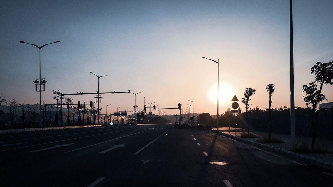 Road Sky Transportation Street Sign Street Light City Sunlight