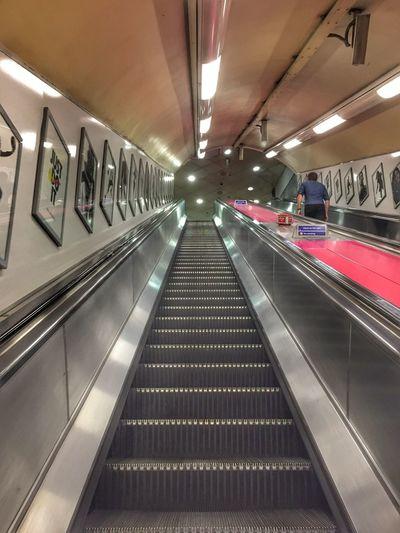Tube life. Underground The Underground London Underground Escalator One Person Going Up EyeEm Escalators Steps Urban Eye4photography  Posters Advertising EyeEm Gallery Warning Sign Emergency Stop Getty X EyeEm Mayfair, London EyeEm Masterclass in London England, UK
