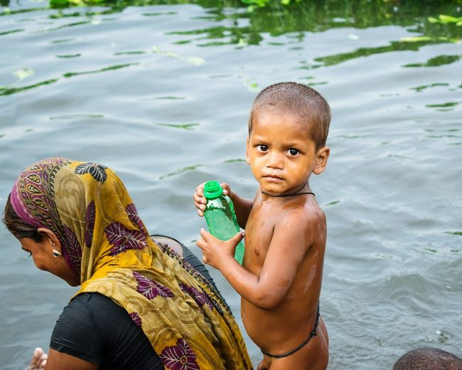 Water Childhood Happiness Babies Only Close-up Nature Wet People Baby Portrait India Street Playing Real People Canoneos Freshness Childphotography Lucknow River