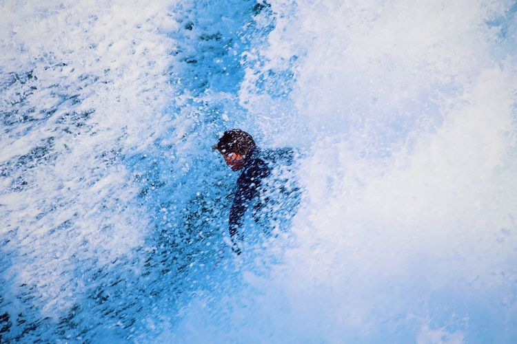 Close-up of woman in water