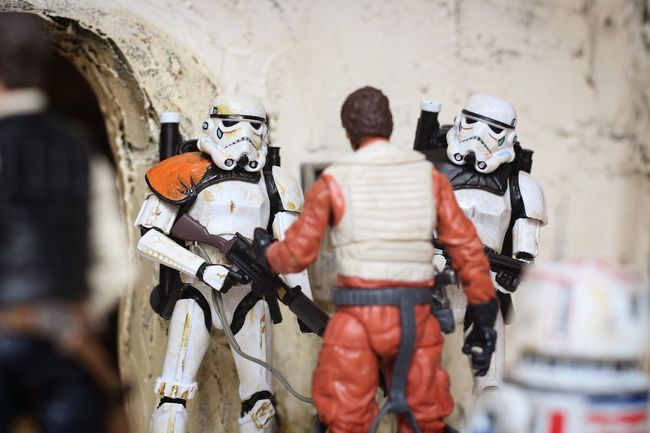 ID check. Canon700D Toy Photography Diorama Starwars Blackseries Hasbro Moseisely Sandtrooper