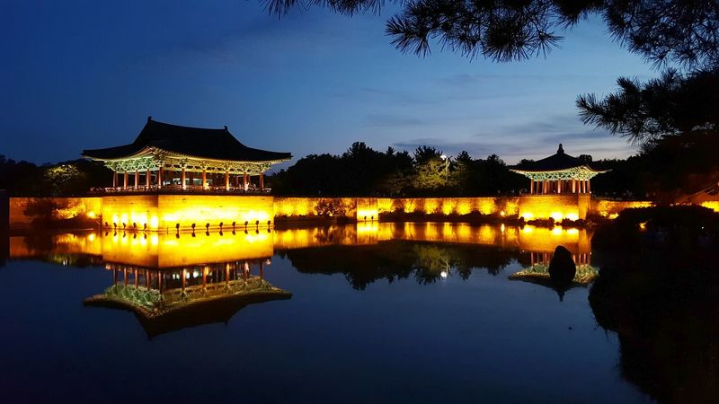 Korea Reflection Water Night Travel Architecture Landscape Business Finance And Industry No People Sunset Lake Travel Destinations Outdoors Sky korean