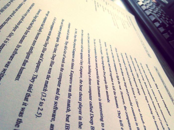 School Learn Knowledge GARY KASPAROV IT ENGLISH First Eyeem Photo