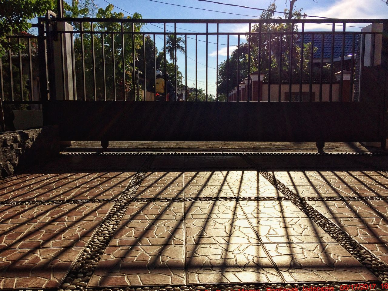 day, sunlight, railroad track, no people, outdoors, architecture, sky