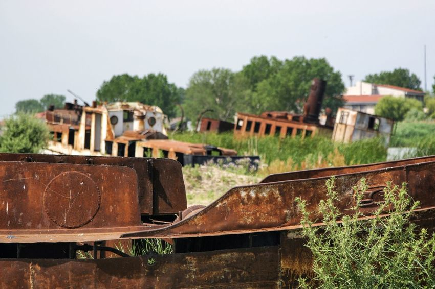 DanubeDelta Sulina WreckedShip Abandoned Damaged Day Focus On Foreground No People Old Outdoors Rusty Transportation Wrecked Wrecked Boat.
