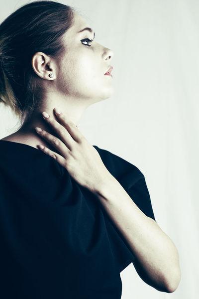 #Profile Beautiful Woman Fashion Fashion Model Human Hand One Person Standing Studio Shot White Background Young Adult Young Women