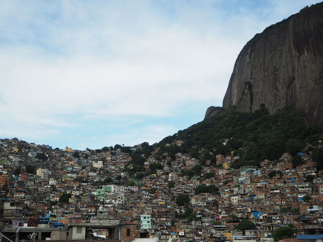 Thousands of people, all in one street. Architecture Brazil City Cityscape Crowded Mountain Outdoors Rocinha Sky Society Travel