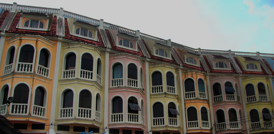 Arch Architecture Building Exterior Built Structure City Clear Sky Day History Low Angle View No People Outdoors Phuket Old Town Sky Travel Destinations